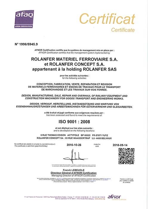 Certificat AFAQ