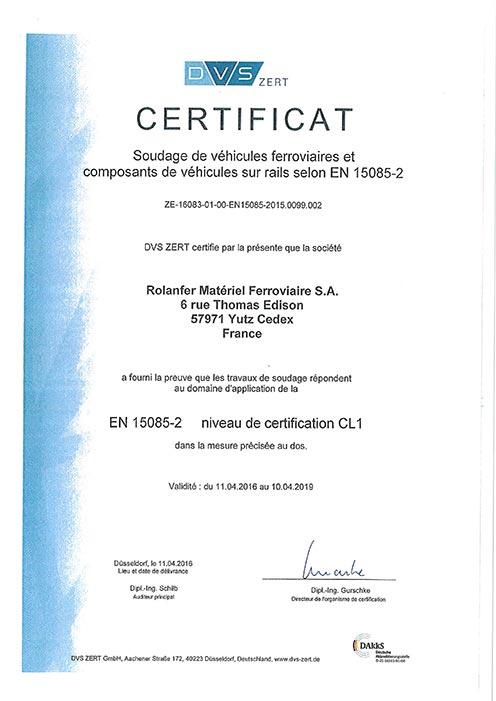 Certificat DVS